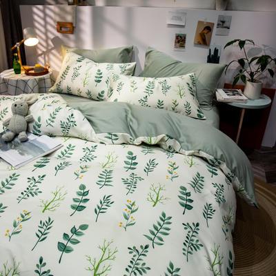 全棉-ins清新治愈系列四件套 床单款四件套1.5m(5英尺)床 琉璃