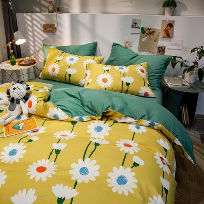 全棉-ins清新治愈系列四件套 床单款四件套1.5m(5英尺)床 麻雀