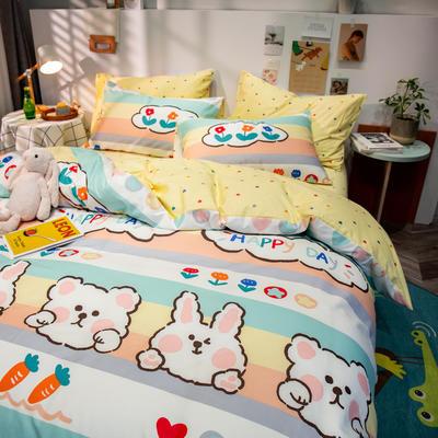 全棉-ins清新治愈系列四件套 床单款四件套1.5m(5英尺)床 芒种