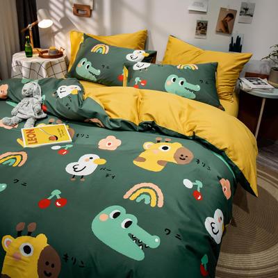 全棉-ins清新治愈系列四件套 床单款四件套1.5m(5英尺)床 清新的开始