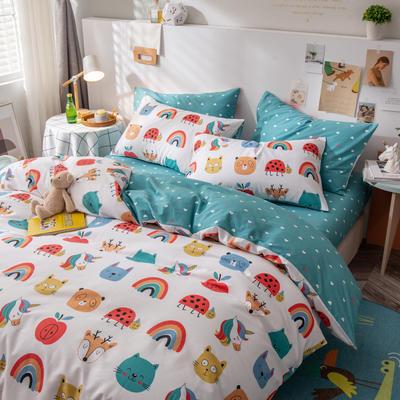 全棉-ins清新治愈系列四件套 床单款四件套1.5m(5英尺)床 童真