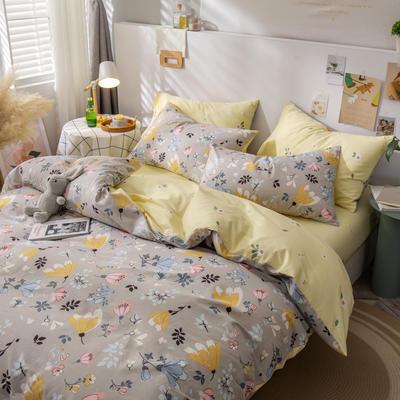全棉-ins清新治愈系列四件套 床单款四件套1.5m(5英尺)床 我有一个确信