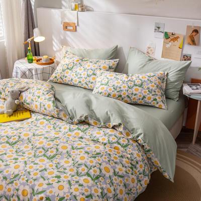 全棉-ins清新治愈系列四件套 床单款四件套1.5m(5英尺)床 小雏菊