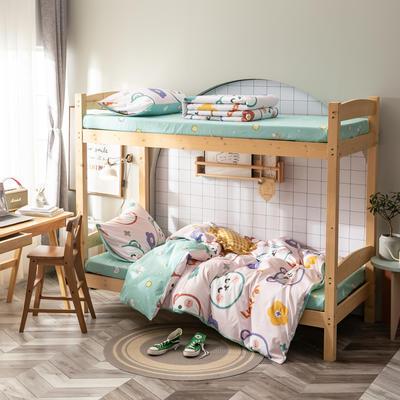 全棉13372儿童宿舍三件套 床单款三件套1.2m(4英尺)床 纯纯的夏天