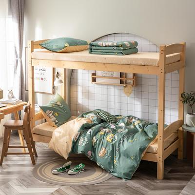 全棉13372儿童宿舍三件套 床单款三件套1.2m(4英尺)床 疯人院