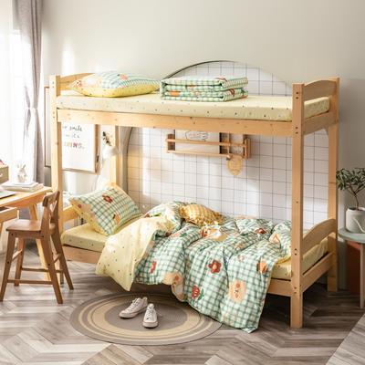 全棉13372儿童宿舍三件套 床单款三件套1.2m(4英尺)床 乖乖熊