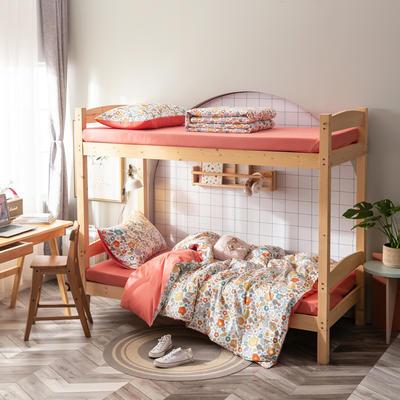 2020新款-13372儿童宿舍三件套 床单款三件套1.2m(4英尺)床 花海