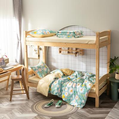 2020新款-13372儿童宿舍三件套 床单款三件套1.2m(4英尺)床 花开那年