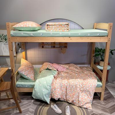 2020新款-13372儿童宿舍三件套 床单款三件套1.2m(4英尺)床 花香-粉
