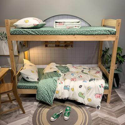 2020新款-13372儿童宿舍三件套 床单款三件套1.2m(4英尺)床 可爱的恐宝