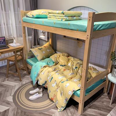 2020新款-13372儿童宿舍三件套 床单款三件套1.2m(4英尺)床 卤猫