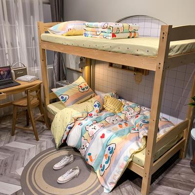 2020新款-13372儿童宿舍三件套 床单款三件套1.2m(4英尺)床 芒种