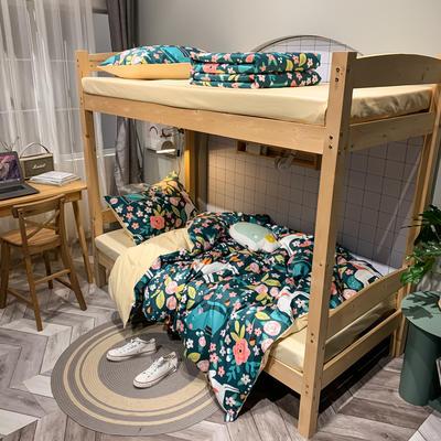 2020新款-13372儿童宿舍三件套 床单款三件套1.2m(4英尺)床 猫的约会