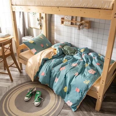 2020新款-13372儿童宿舍三件套 床单款三件套1.2m(4英尺)床 小朵朵