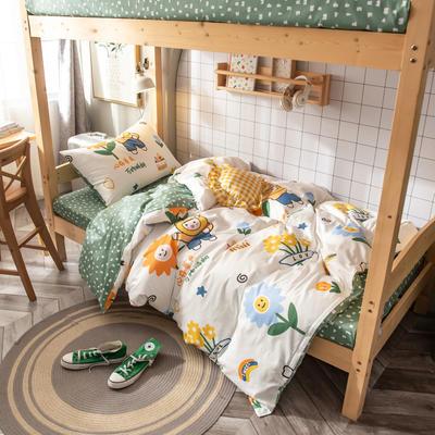 2020新款-13372儿童宿舍三件套 床单款三件套1.2m(4英尺)床 心情