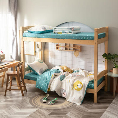 2020新款-13372儿童宿舍三件套 床单款三件套1.2m(4英尺)床 熊猫头
