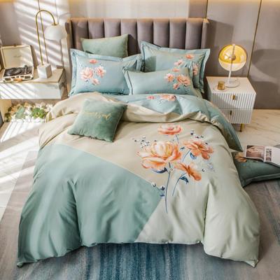 2021新款13372平网时尚花卉系列四件套 1.8m床单款四件套 闻香