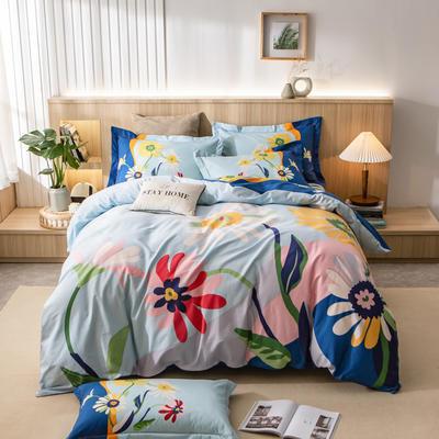 2021新款13372平网时尚花卉系列四件套 1.8m床单款四件套 向阳花开