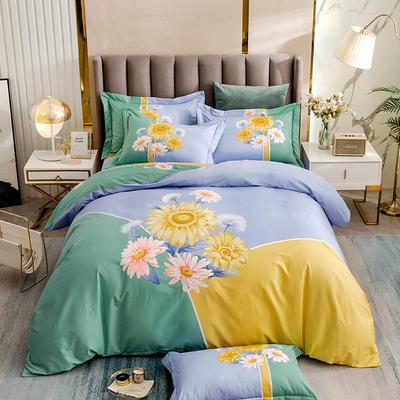 2021新款13372平网时尚花卉系列四件套 1.8m床单款四件套 戴薇