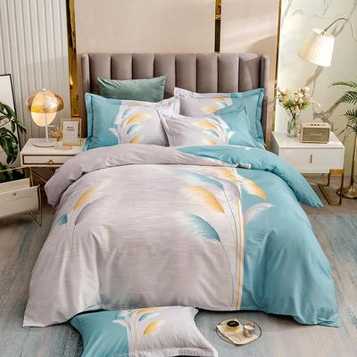 2021新款13372平网时尚花卉系列四件套 1.8m床单款四件套 微微兰
