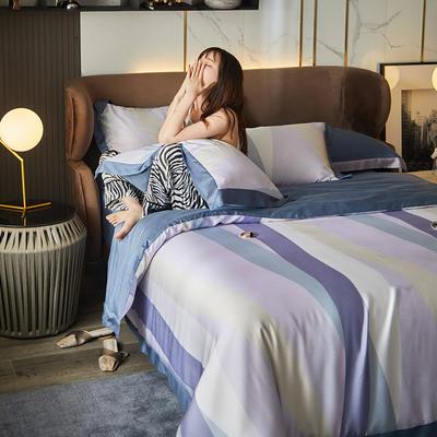 2021天丝印花四件套 1.8m(6英尺)床 影雅罗兰-灰