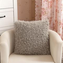 【帅露家纺】山羊绒方形抱枕(数据包上传需自行优化标题及相关属性) 银灰 45x45cm