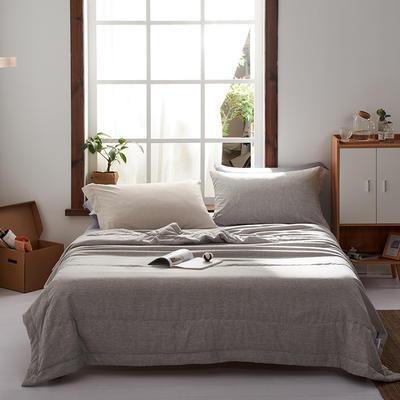 2020新款水洗棉花夏被棉花被 150X210cm 灰色