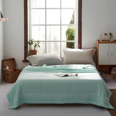 2020新款水洗棉花夏被棉花被 150X210cm 绿色