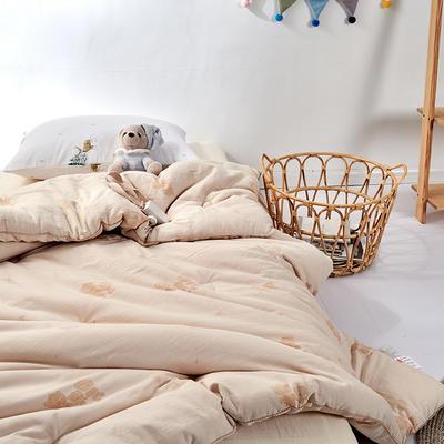 2020新款A类-A类水洗彩棉蚕丝宝宝被冬被被子被芯 冬被150x210cm  6斤 白色角度2