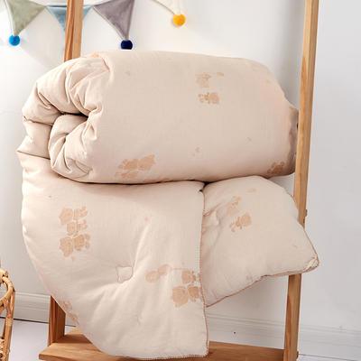 2020新款A类-A类水洗彩棉蚕丝宝宝被冬被被子被芯 冬被150x210cm  6斤 白色角度7