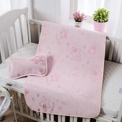 婴儿凉席 宝宝凉席 婴儿席子 儿童凉席60*120cm 120cmX60cm 小海星-粉