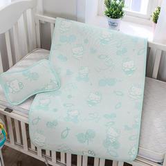 婴儿凉席 宝宝凉席 婴儿席子 儿童凉席60*120cm 120cmX60cm 发财猫-绿
