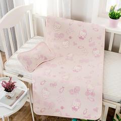 婴儿凉席 宝宝凉席 婴儿席子 儿童凉席60*120cm 120cmX60cm 发财猫-粉