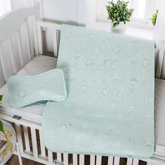 婴儿凉席 宝宝凉席 婴儿席子 儿童凉席60*120cm 120cmX60cm 大脸猴-绿