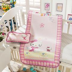 婴儿凉席 宝宝凉席 婴儿席子 儿童凉席60*120cm 120cmX60cm 粉色凯蒂