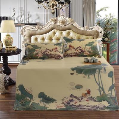 亏本包邮 天然水牛皮凉席三件套 1.5m(5英尺)床 荷塘月色-浅