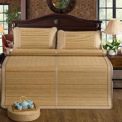 竹藤双面凉席 竹席可折叠 冰丝枕套/对(颜色随机) 盛夏光年