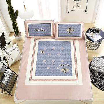 专版新品 大版印花冰丝席 数码环保印染 定位花型