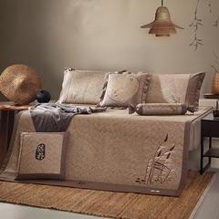新品 高端绣花藤席 三件套 1.5m(5英尺)床 绣花藤:麦穗