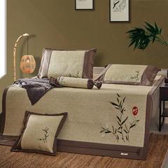 新品 高端绣花藤席 三件套 1.5m(5英尺)床 绣花藤:竹叶