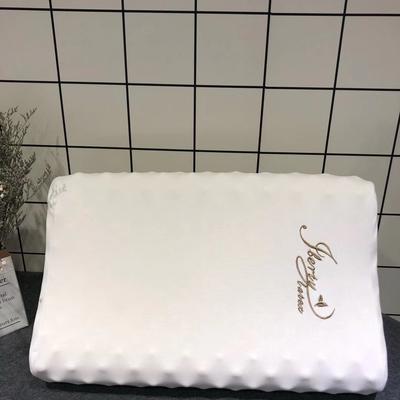 泰国本土乳胶枕 全进口儿童枕 U型枕 狼牙按摩枕(58*37*11/13cm)
