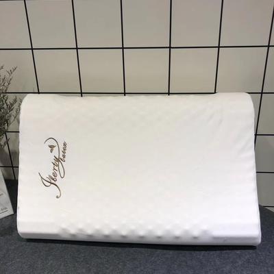 泰国本土乳胶枕 全进口儿童枕 U型枕 颗粒按摩枕(60*40*10/12cm)