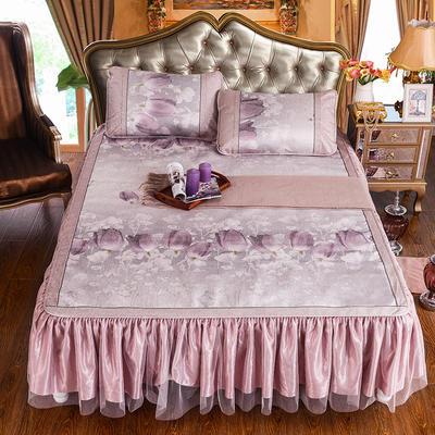 2020特卖 600D床笠床裙冰丝席  床垫全包款 1.8m(6英尺)床 心花怒放