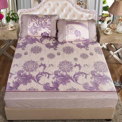 2020特卖 600D床笠床裙冰丝席  床垫全包款 1.8m(6英尺)床 维也纳 紫