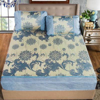 2020特卖 600D床笠床裙冰丝席  床垫全包款 1.8m(6英尺)床 维也纳 蓝