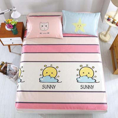 卡通印花冰丝凉席 枕套定位混搭小清新席子 1.5m(5英尺)床 多彩盛夏