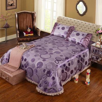 特价水洗冰丝席 床单式凉席 1.5/1.8/2m床用 2.3*2.5m(适用1.5m1.8m床 雅诺 紫