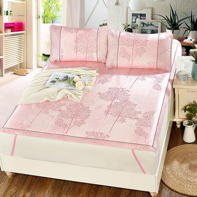 升级版提花冰丝凉席 加密多规格学生席子 1.5m(5英尺)床 美丽印象-粉