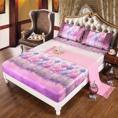 特价水洗冰丝席 床单式凉席 1.5/1.8/2m床用 1.5m(5英尺)床 (床包)蒲公英