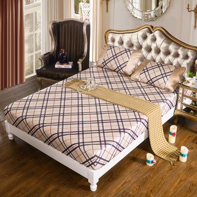 特价水洗冰丝席 床单式凉席 1.5/1.8/2m床用 1.5m(5英尺)床 (床包)英伦格调-红